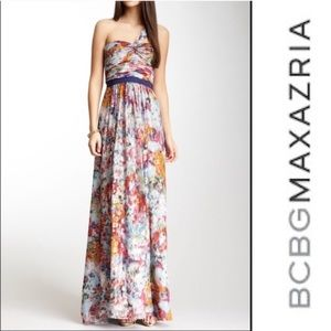 BCBG Maxazria Multicolored Formal Dress